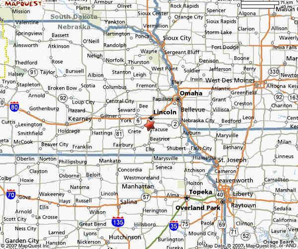Map Nebraska Iowa Missouri